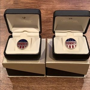 Other - Romney Cufflinks or Lapel Pins